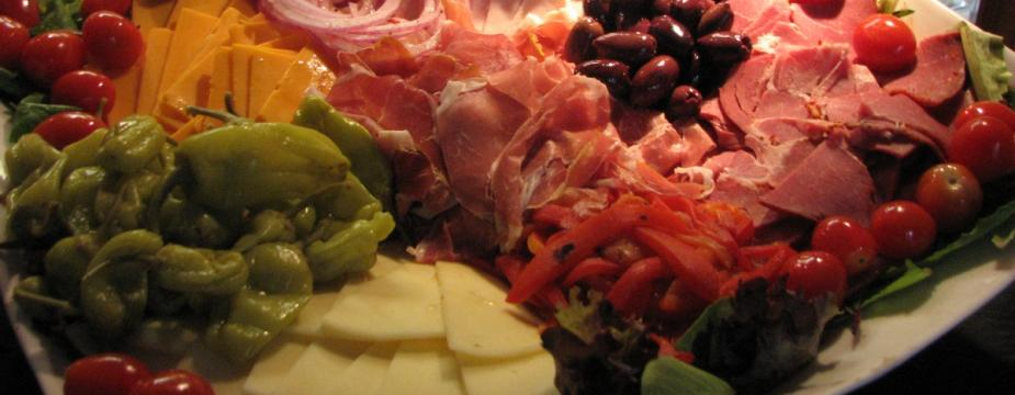 A platter of antipasto