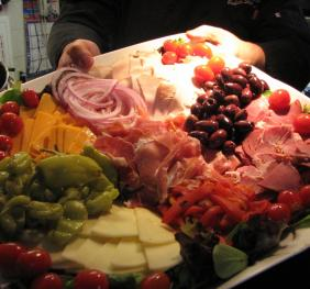Plate of Antipasto Platter